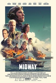 Midway movie playing at the Wales Cinema in High River