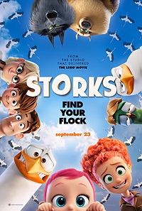 Storks movie playing in High River